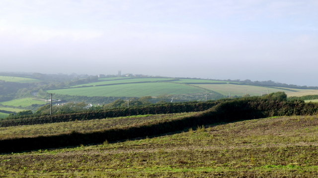 Arable fields north of Porthleven