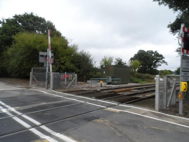 Level crossing near to Adversane