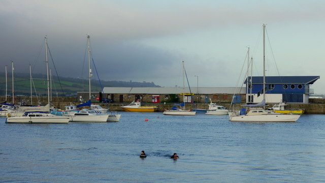 Swimmers in Penzance Harbour