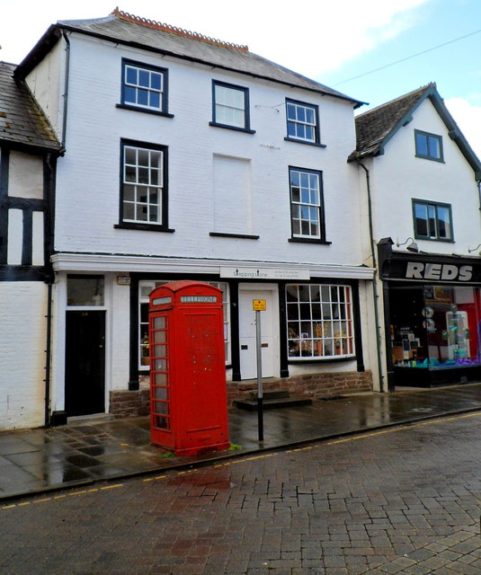 Red phonebox and Reds in Leominster