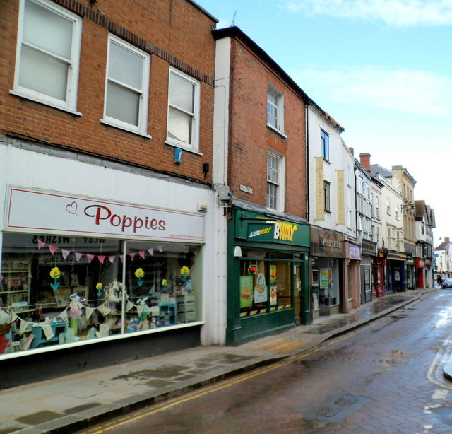 Southern end of High Street Leominster