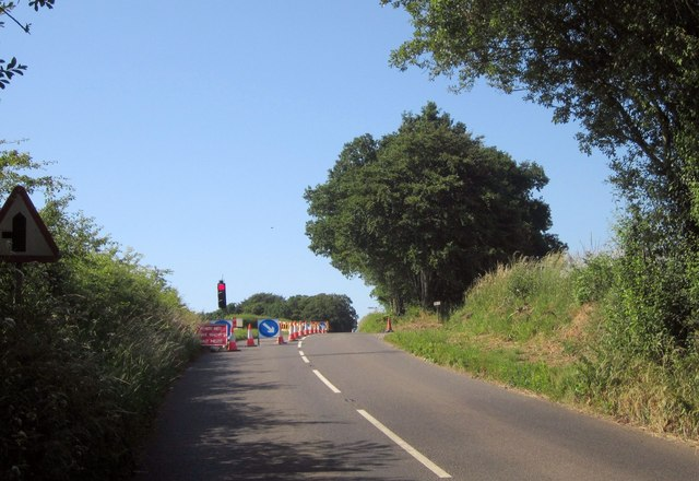 B3137 near West Yeo Cross