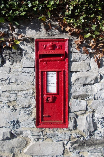 Victorian post box in Ashford-in-the-Water