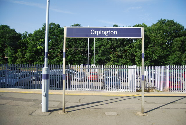 Station sign, Orpington
