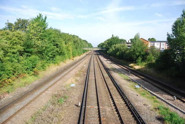 South Eastern Main line north of Petts Wood Station