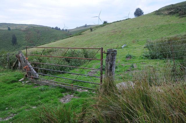 Gate on Mynydd Cerrigllwydion