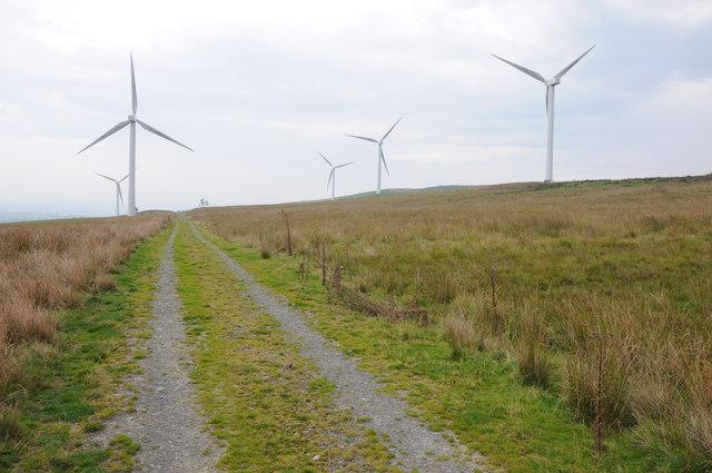 Mynydd Glogau windfarm