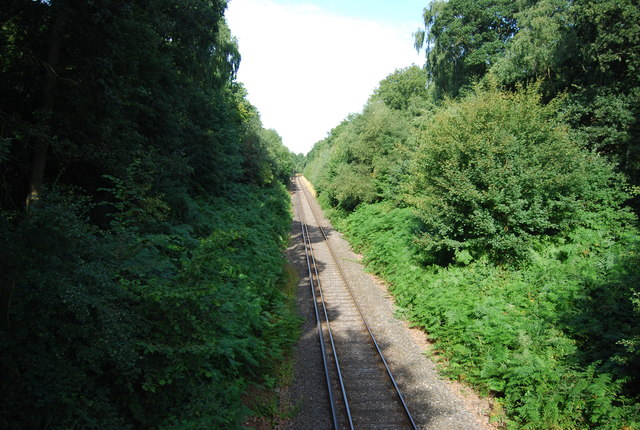 Railway line near Petts Wood