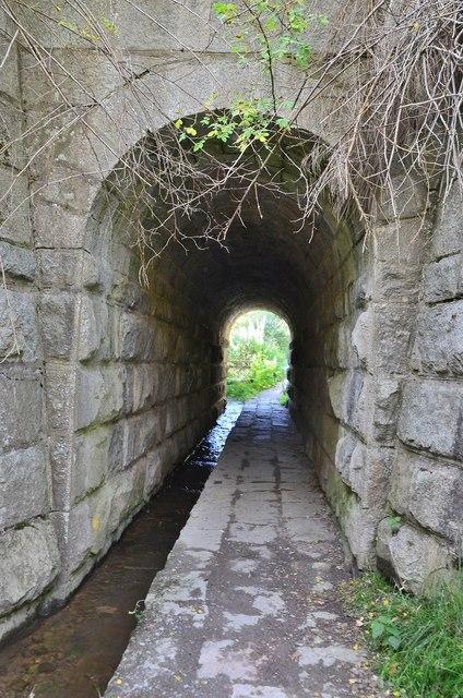 Pedestrian tunnel below the Strathspey Railway line