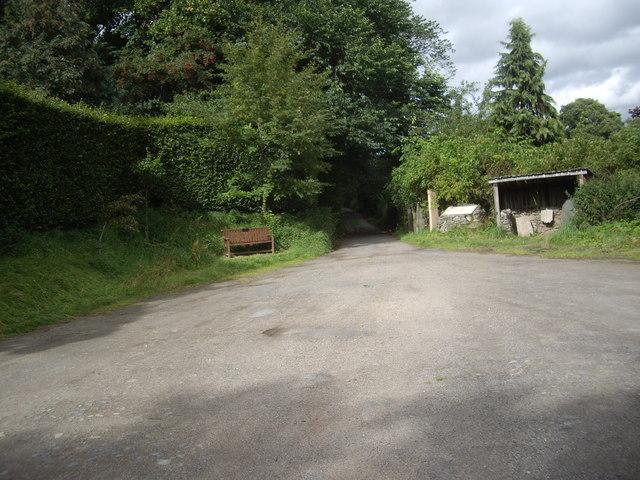 Rhynie cemetery carpark