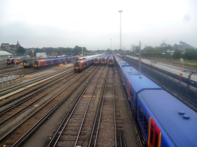 Clapham Junction:  Carriage sidings