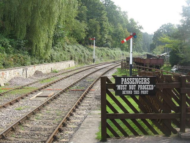 Looking south from Parkend Station