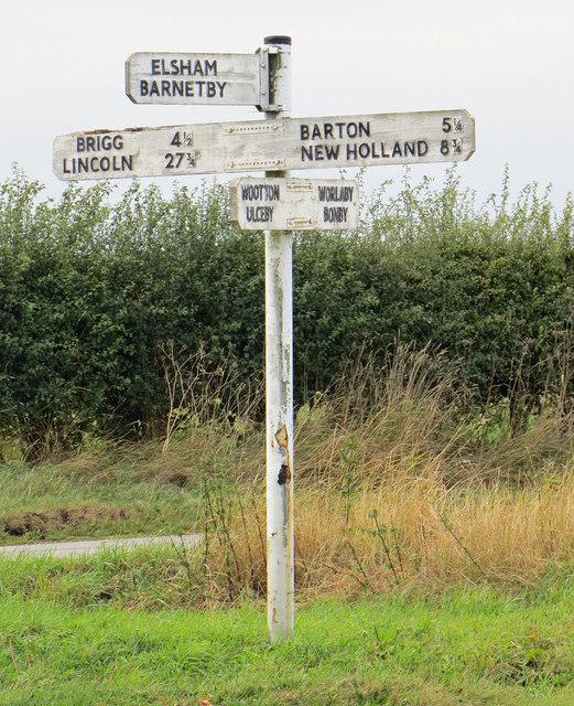 Signpost near Spot Height 89m
