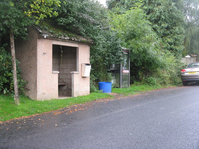Shelter and telephone box