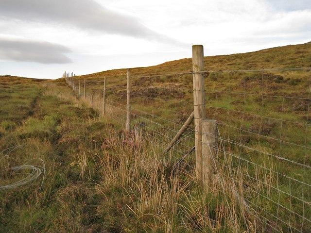 Deer fence on Beinn a' Sgùmain
