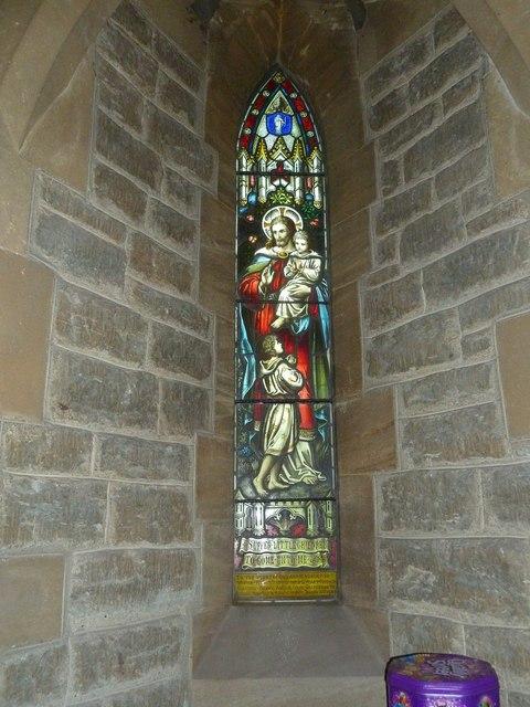 Holy Trinity New Church, Bothenhampton: stained glass window (1)