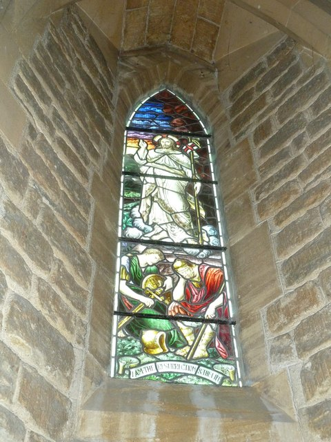 Holy Trinity New Church, Bothenhampton: stained glass window (2)