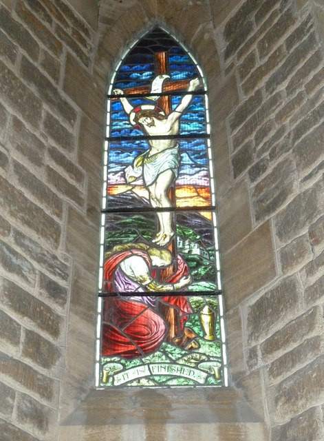 Holy Trinity New Church, Bothenhampton: stained glass window (4)