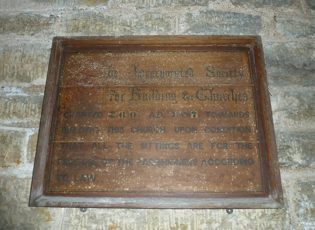 Holy Trinity New Church, Bothenhampton: grant commemoration