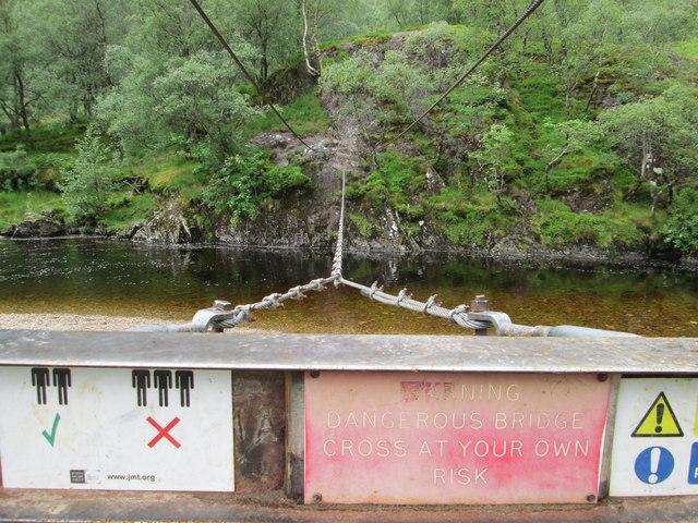 Steall footbridge