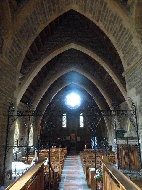 Inside Holy Trinity New Church, Bothenhampton (i)