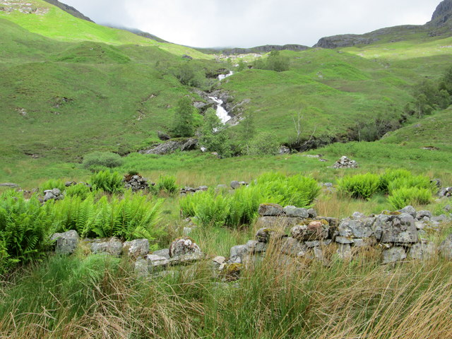 Waterfall above the Steall Ruins, Glen Nevis