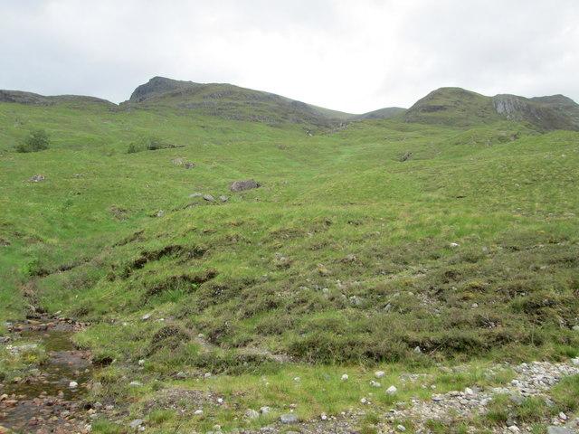 Aonach Beag from near the ruins, Glen Nevis