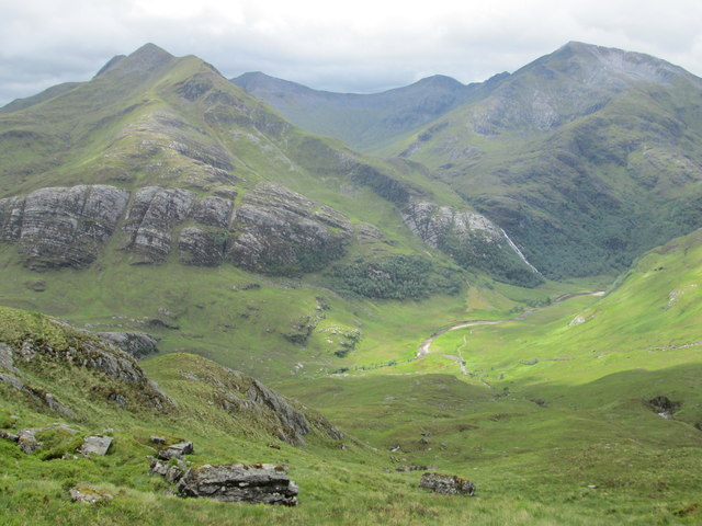 Ring of Steall from the lower slopes of Aonach Beag