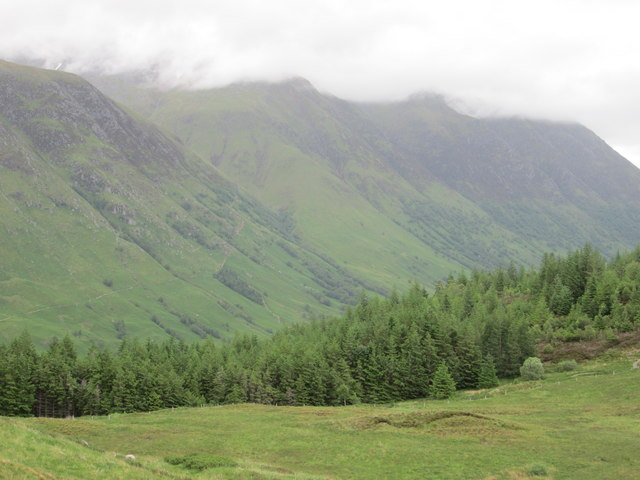 Ben Nevis in cloud - view from Cow Hill