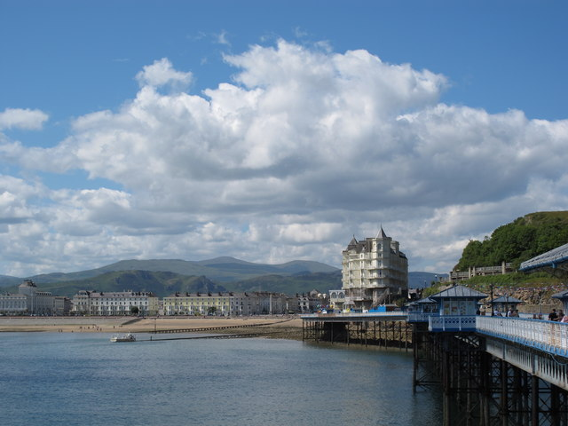 View looking south toward the Promenade from Llandudno Pier