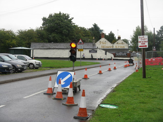Road works at Whitecroft