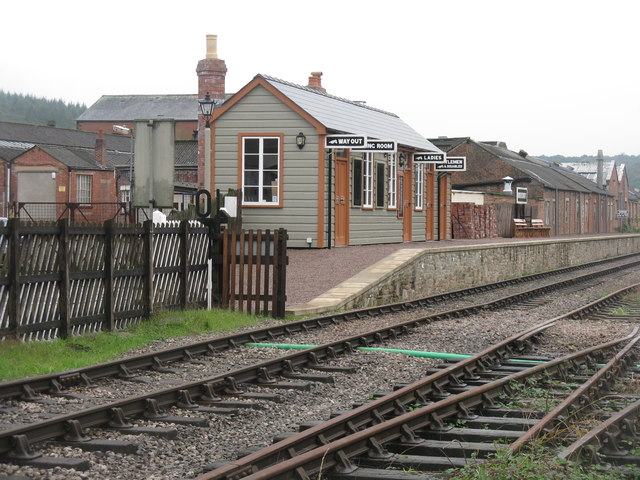 Whitecroft station on the Dean Forest Railway