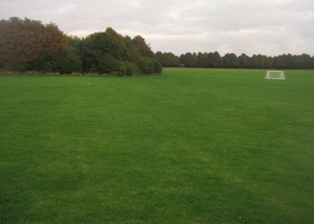 Large school playing fields