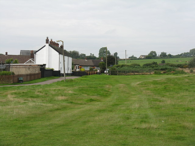 Houses by Oldcroft cricket ground