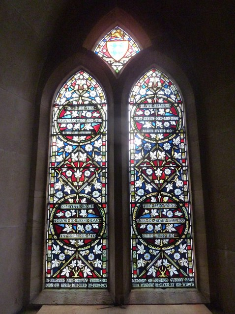 St Mary, Walditch: stained glass window (ii)