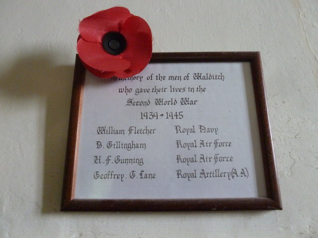 St Mary, Walditch: war memorial (1939-45)