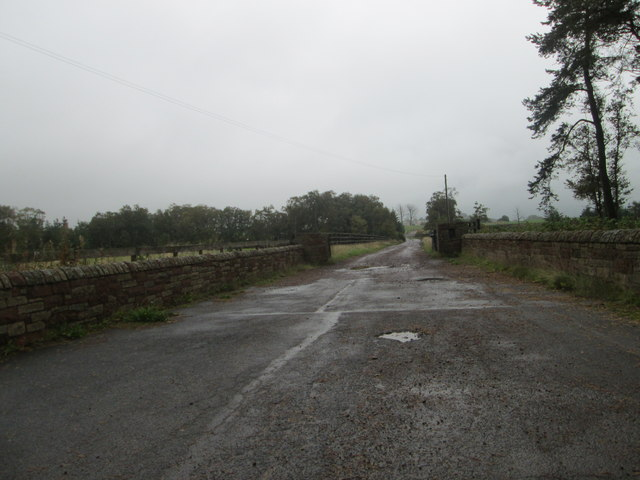 The road leading to Bankwood Farm