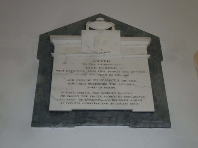 Chilcombe Church: memorial (II)