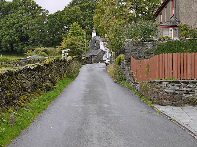 The road through Little Langdale village