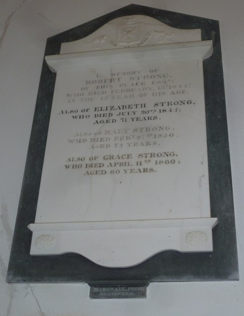 Chilcombe Church: memorial (III)