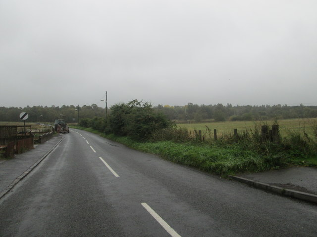 Road heading out of Carstairs Village