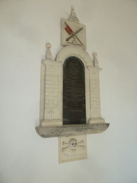 Chilcombe Church: memorial (IV)