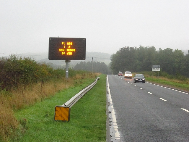 Variable message sign, A92