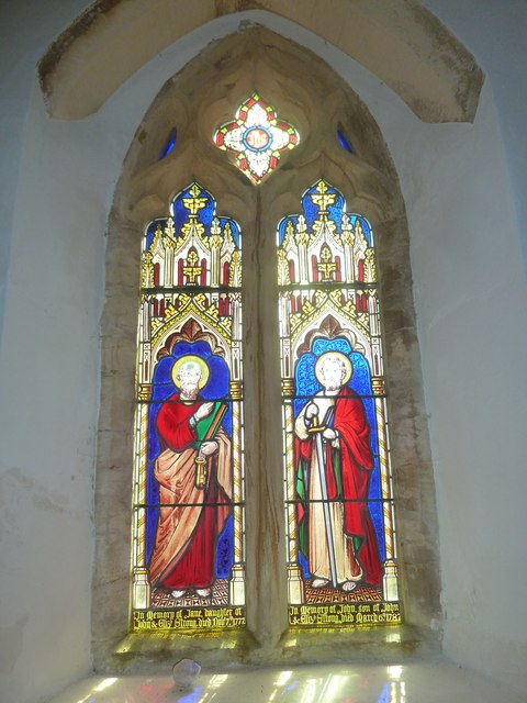 Chilcombe Church: stained glass window (ii)