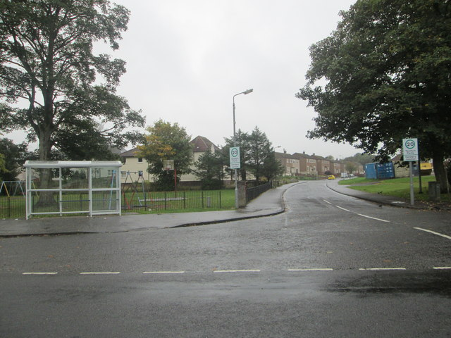 Road junction at Carstairs Junction