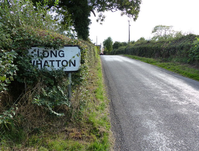 Village sign for Long Whatton