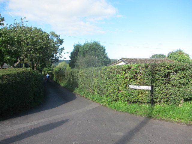Looking North from the entrance to Max Mill Lane