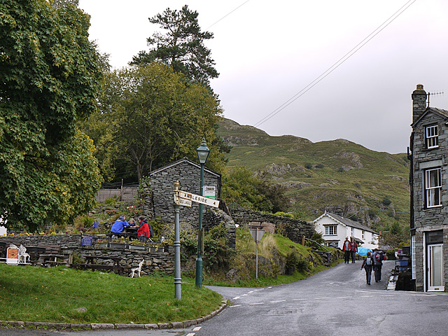 The centre of Elterwater