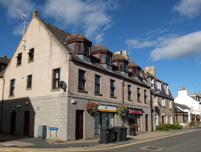 Shops with flats above, Ythan Terrace, Ellon