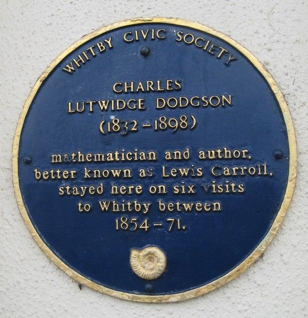Blue plaque, Lewis Carroll